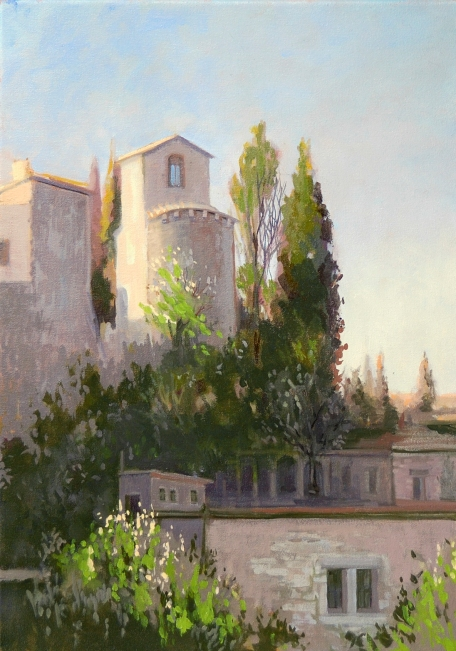 "Dusk San Quirico 14""x20"" Oil on Linen"