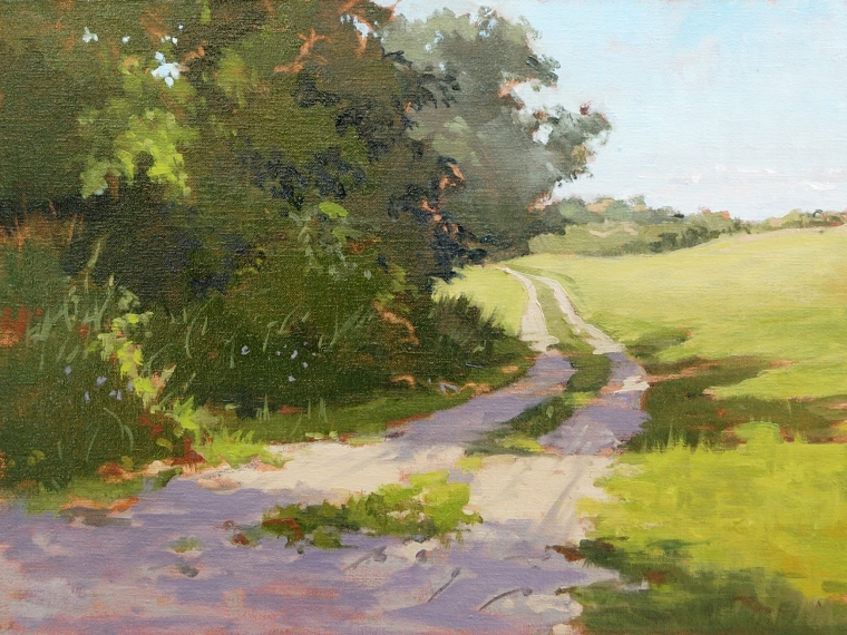 "East Mill Road near Oregon 12""x16"" Oil on Linen Panel"