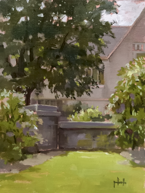 "Coe Hall 9""x12"" Oil on linen panel"