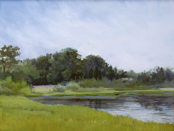 "Morning at Conscience Point 12""x16"" Oil on Panel"